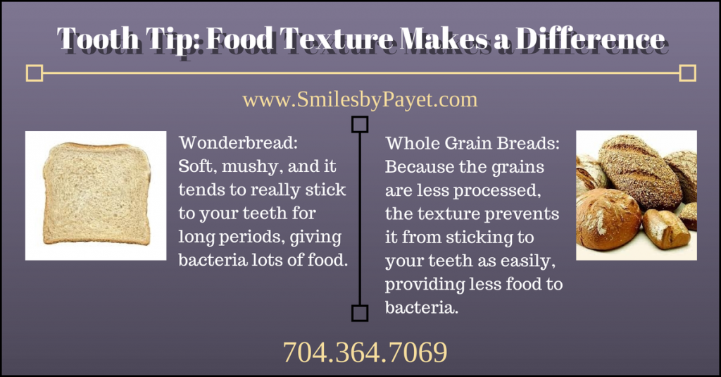 Highly textured foods are healthy for teeth