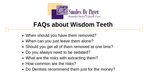 Wisdom teeth FAQs