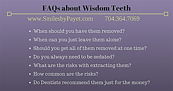 FAQs about Wisdom Teeth Extractions wisdom teeth charlotte dentist