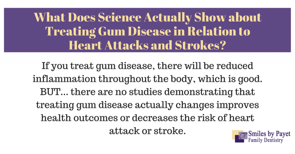 does treating periodontal disease reduce heart attacks, strokes?